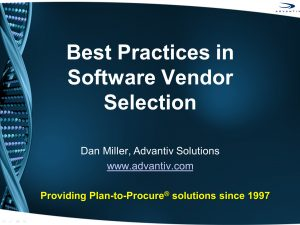 Best Practices in Software Vendor Selection Presentation