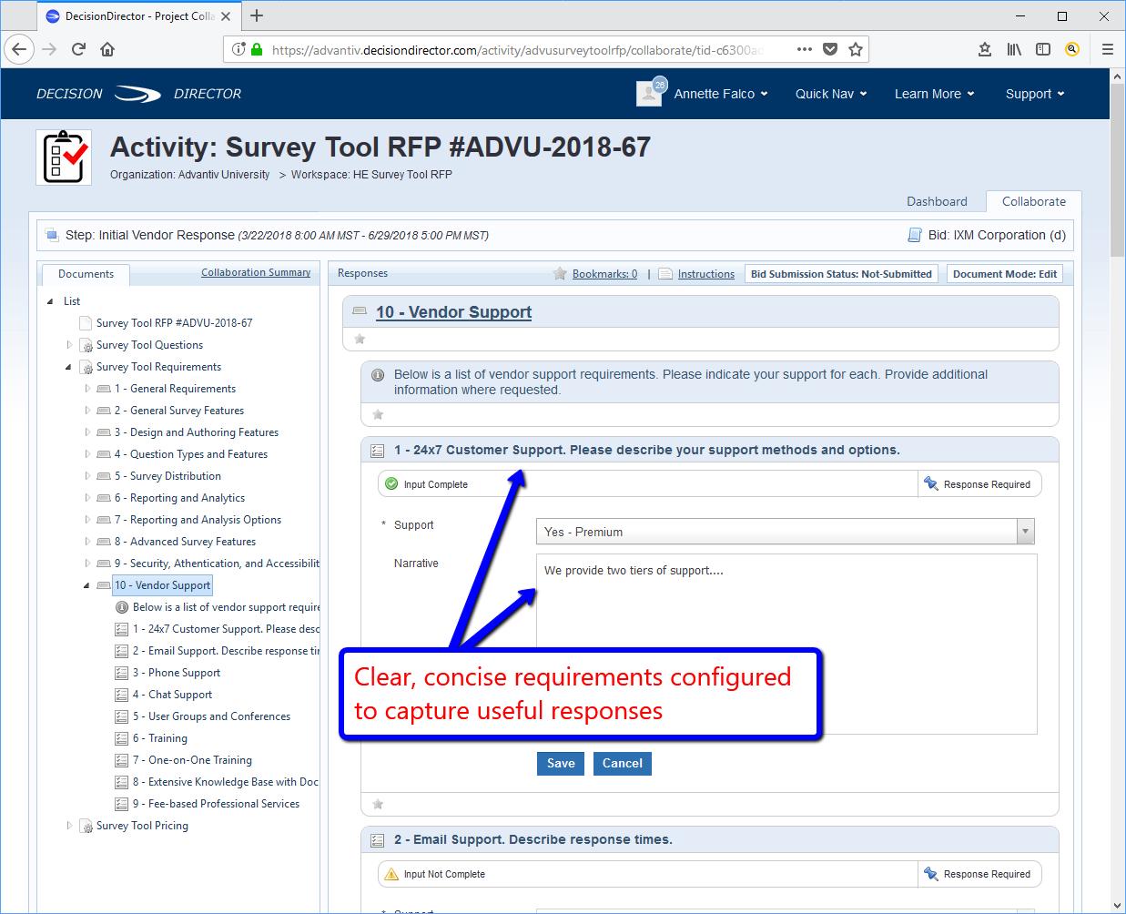RFP Hosting - Advantiv DecisionDirector